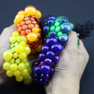 5cm New Cute Anti Stress Face Reliever Grape Ball Autism Mood Squeeze Relief Healthy Toy Funny Geek Gadget Vent Toy
