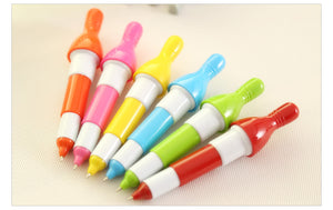 5pcs per price random color Ball point pen Bowling ball Student stationery retractable ballpoint blue words writing