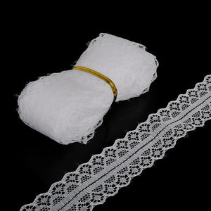5yards 28MM Width White Lace Ribbon DIY Decorative Lace Trim Fabric Wedding Birthday Christmas Decor Craft Clothing/Accessories