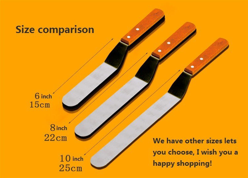 6/8/10inch Stainless Steel Home Butter Cake Cream Knife Spatula Smoother Icing Frosting Spreader Fondant Pastry Cake