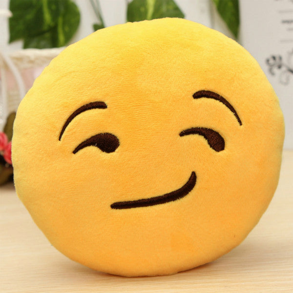 6 Inch Smiley Face Emoji Pillows Soft Plush Emoticon Round Cushion Home Decor Cute Cartoon Toy Doll Decorative Throw Pillows