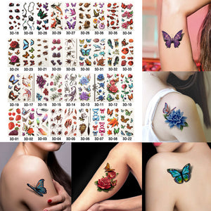 6 Sheets Health Beauty Body Art Temporary Tattoos Gold Flash Metallic Tattoo Sticker Henna Women Jewelry Tattoo Waterproof