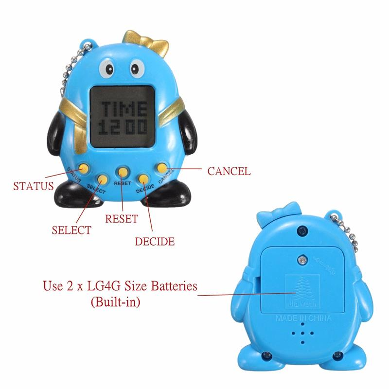 6 colors 90s nostalgic 168 pets in one virtual cyber pet toy funny Tamagotchi electronic pets toys gift JO692