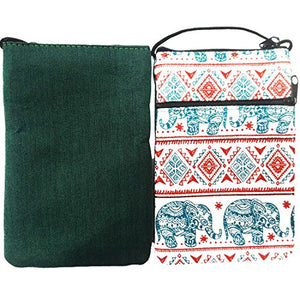 Thai Elephant Crossbody Bag Hmong Hill Tribe Hippy EB3 (Green/Red)