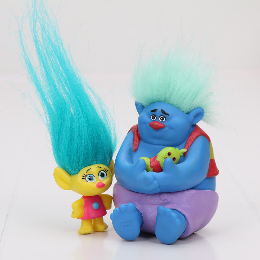 6Pcs/Set 2-6cm Trolls Movie Figure Collectible Dolls Branch Biggie PVC Trolls Action Figures Doll Toy