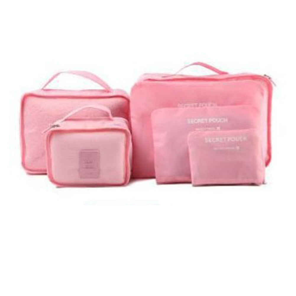 6pcs/set Women Travel Storage Bag High Capacity Luggage Clothes Tidy Organizer Pouch Suitcase Portable Waterproof Storage Case