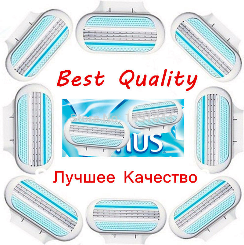 8 pieces/lot High Quality Female V 8S Sharpener Shaving Razor Blades for Women Care In Original Free Shipping (1*V8s)