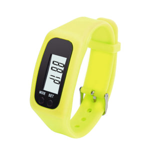 8Color Fashion Design Multifunction Digital LCD Pedometer Fitness Run Step Walking Distance Calorie Counter Watch Bracelet