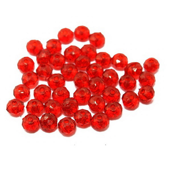 8mm 100pcs Rondelle Round Spacer Faceted Beads Acrylic Beads For Jewelry Making DIY Fashion Bracelets Wholesale