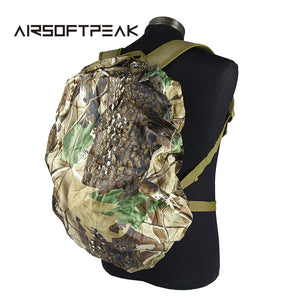 AIRSOFTPEAK 25L-40L Backpack Dust Rain Cover Waterproof Rucksack Bag Covers Camouflage Nylon Case For Hunting Camping Hiking