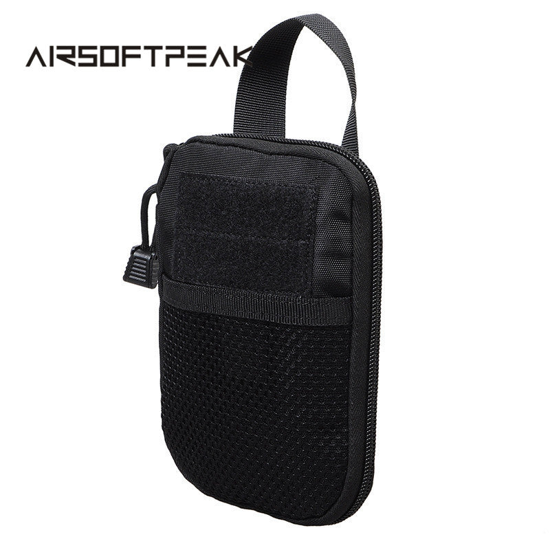 AIRSOFTPEAK Military Molle EDC Pouch Mesh Tools Accessory Pouches Tactical Waist Hunting Bags Outdoor Flashlight Magazine Pocket