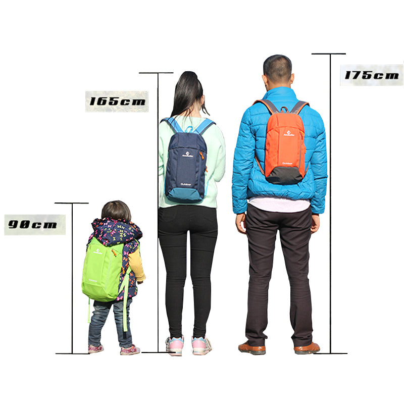 ANMEILU 10L Women Men Travel Backpack,Female Climbing Bag,Small Outdoor Camping Pack,7 Colors Children Boy Girl Sport Bag