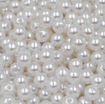AZZ00364 6mm 500pcs Mixed ABS Acrylic imitate Pearl Spacer Ball Round Plastic Beads Pearls Resin Scrapbook Beads Decorate Diy