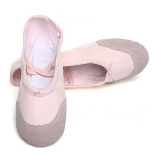 According The CM To Buy,Canvas Profession Women & Children's Ballet Shoes For Woman Girls Ballet Shoes With Ribbon Free Shipping