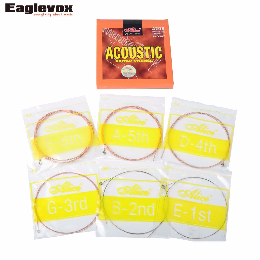 Acoustic Guitar Strings Stainless Steel Coated Copper Alloy Wound Alloy Wound Alice A208