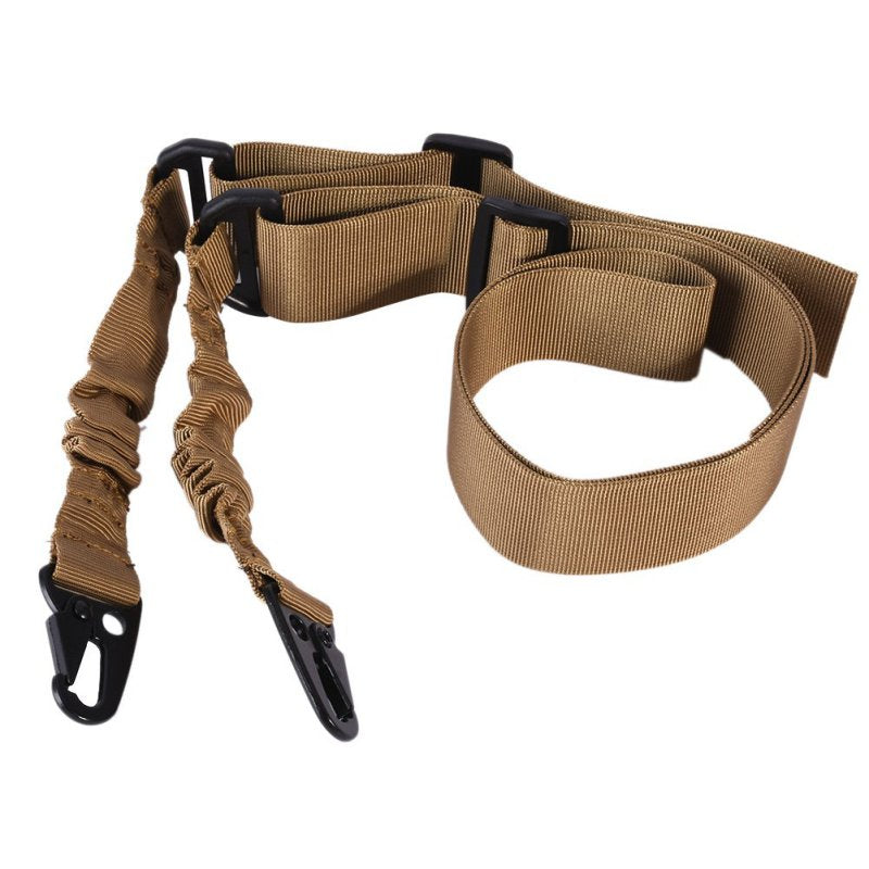 Adjustable Nylon Multi-function Two Point Tactical Rifle Sling Hunting Gun Strap Outdoor Airsoft Mount Bungee System Kit