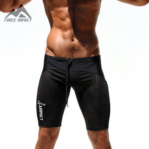 Aimpact Sexy Slim Fitted Men's Tight Shorts Casual Leisure Summer Men Workout Shorts Skinny Crossfit Fight Short for man AQ11