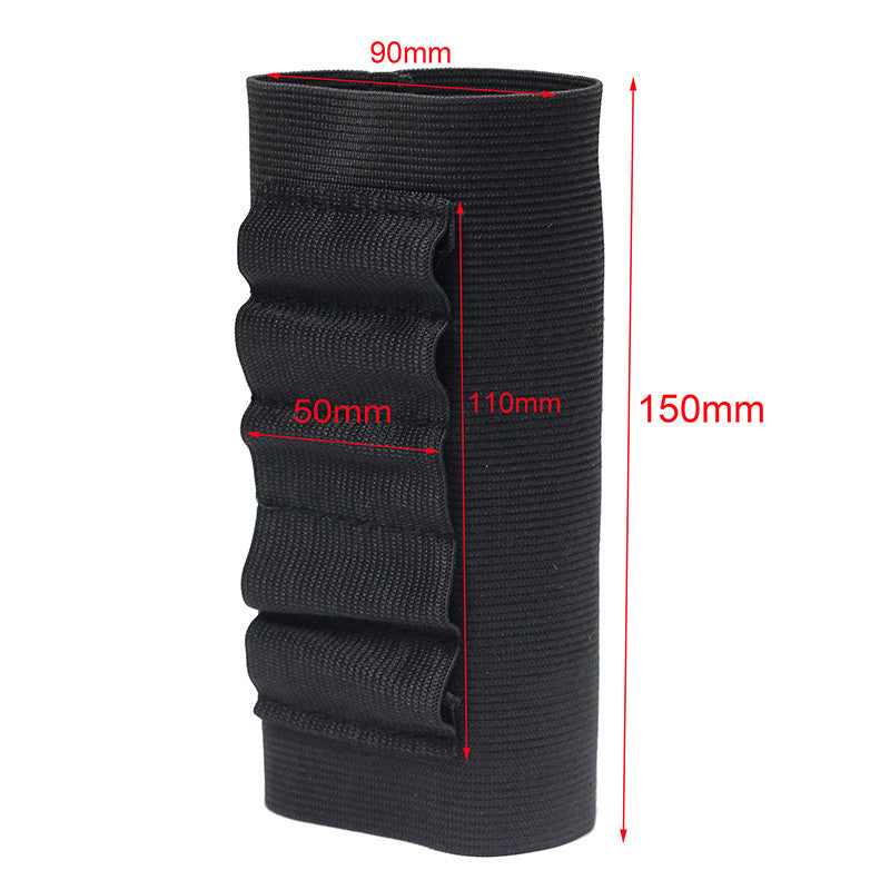 Airsoft Rifle Hunting Tactical Shotgun Pouches 5 Butt cartridges Stock Shell Holder Elastic Fabric Ammunition Carrier New