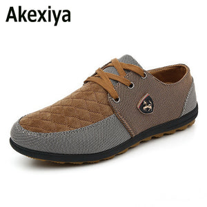 Akexiya 2017 mens Casual Shoes mens canvas shoes for men shoes men fashion Flats Leather brand fashion suede Zapatos de hombre