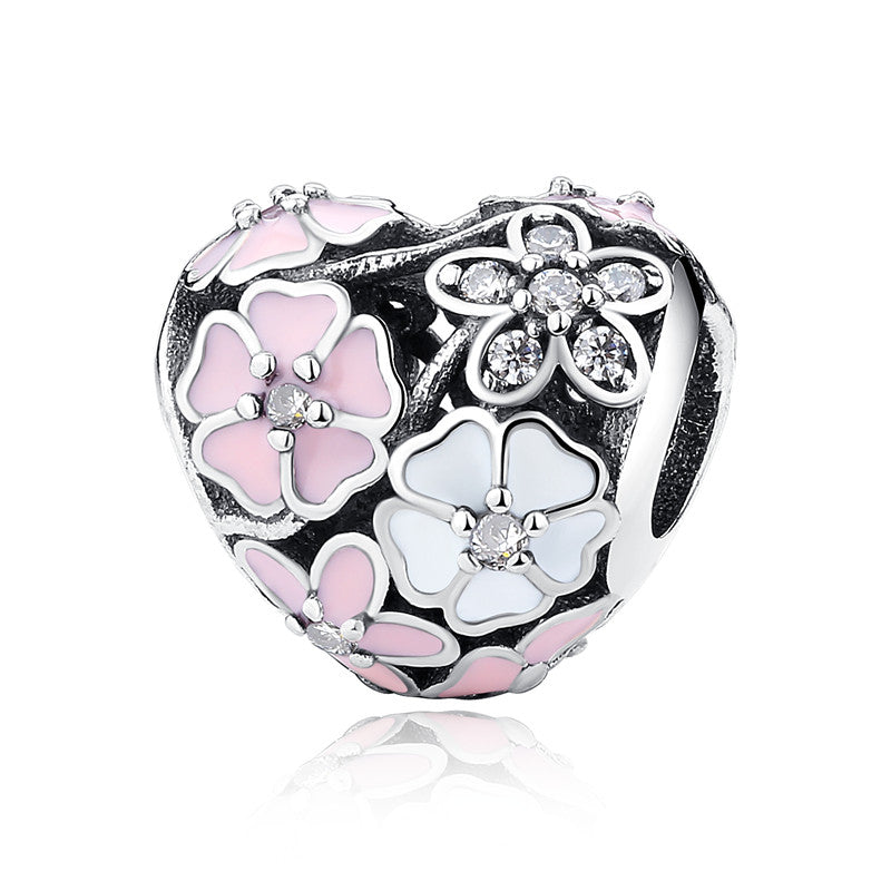 Aliexpress 100% 925 Sterling Silver Poetic Blooms Beads Fit Original pandora Charm Bracelet Authentic Luxury DIY Jewelry Gift