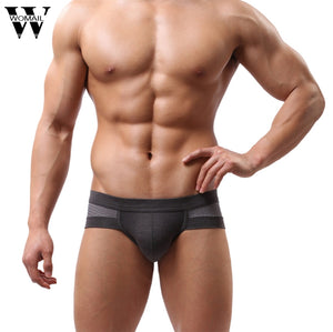 Amazing Summer Mens Sexy Underwear Low Waist Cotton Briefs Underpants for Men L XL XLL Free Shipping