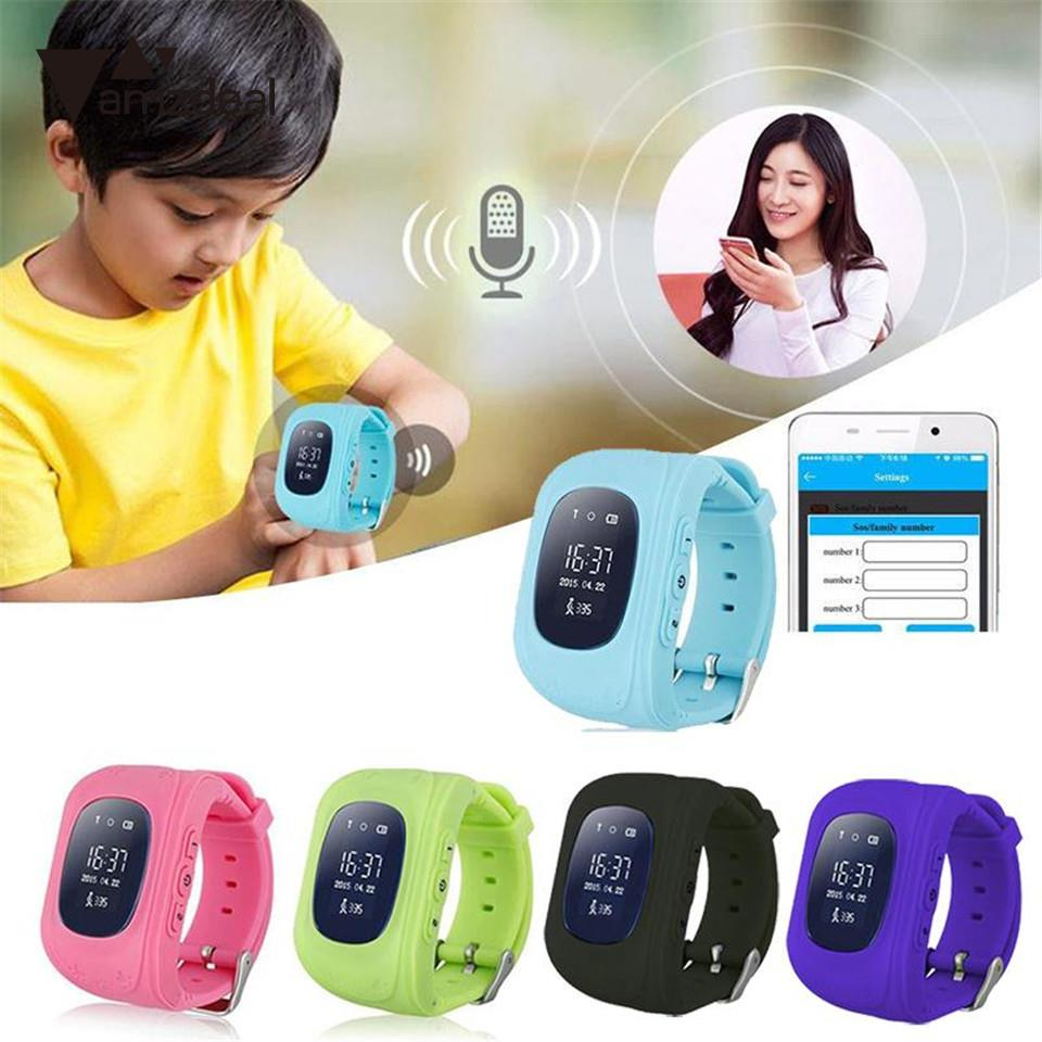 Amzdeal Q50 Kid Safe smart Watch SOS Call Location Finder Locator Tracker Child Anti Lost Monitor Baby Son Wristwatch None GPS