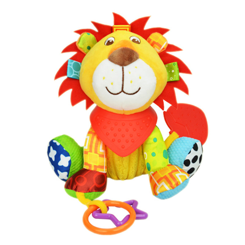 Animal Baby Bell Hand Grasp Educational Toys Infant Rattle Bell Mobility On The Crib Bed Hanging Toy Plush Teether Dolls