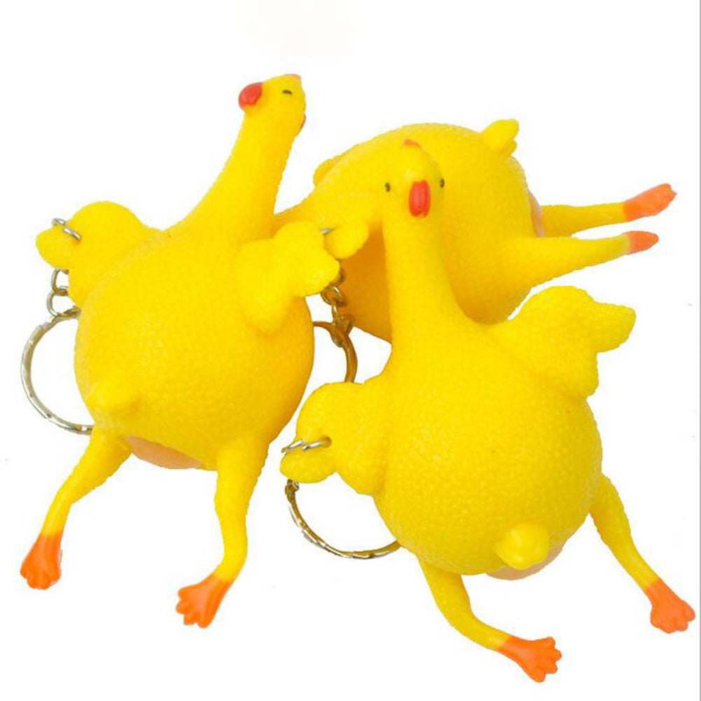 Anti Stress Squeeze Chicken Egg Laying Chickens Novelty & Gag Toys Party Prank Joke Toys Decompression Fun Toys