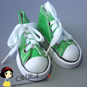 Assorted Colors 7.5cm Canvas Shoes For BJD Doll Toy1/4 Mini Doll sneakers Shoes for 16 Inch Sharon doll Boots