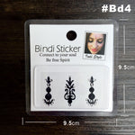 #BD4 Black Color High Quality Bindi Sticker Handpicked Boho And Tribal Style Bindis Temporary Tattoo Stickers Surprise Value Buy