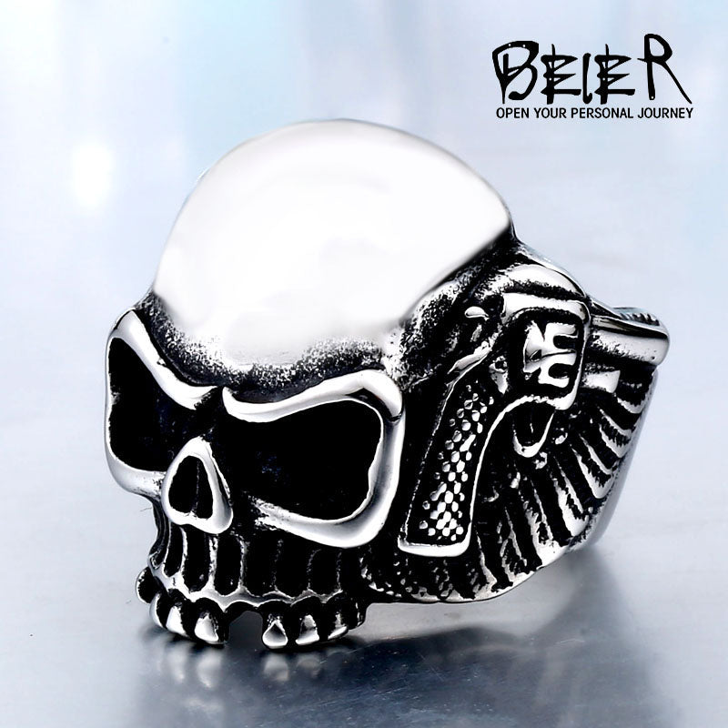 BEIER 2017 316L man Skull Stainless Steel ring top quality Unqiue Designed products Fashion punk Jewelry free shipping BR8-474