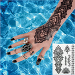 #BH-1 Mandala Henna Tattoos Temporary Black Henna Tattoos Sexy Body Tattoo Stickers