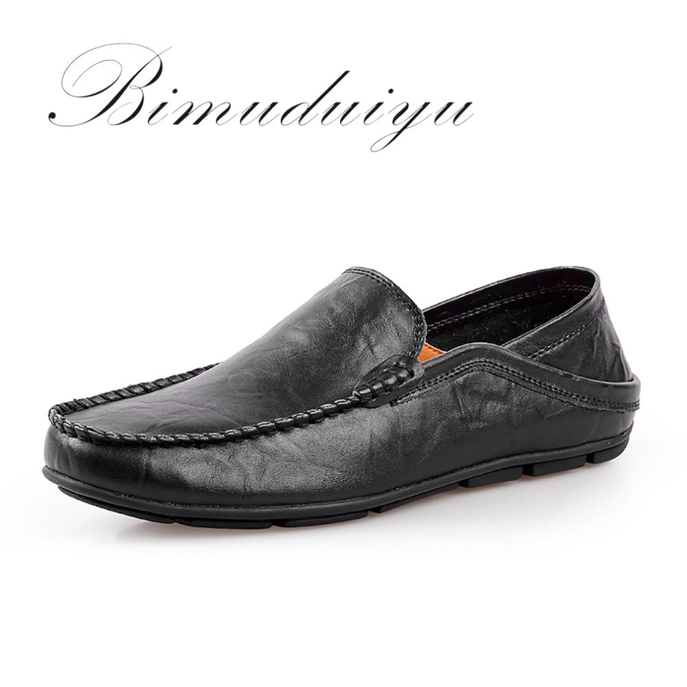 BIMUDUIYU Men's Spring Summer Lazy Loafer High Quality Casual Shoes Elegant Lazy Style Flat Large Size 11 Soft Driving Shoes