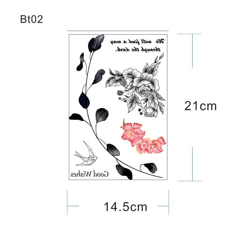 BT04 1 PIECE Under Breast Side Boob Temporary Tattoo with Sea Wave,Mermaid, Moutain, Jellyfish Pattern Body Art