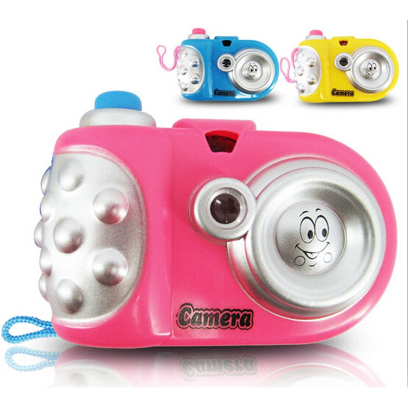 Baby Kids Projection Camera Toy Fun LED Light Projection Animal Cartoon Pattern Educational Learning Toys Children Random Color