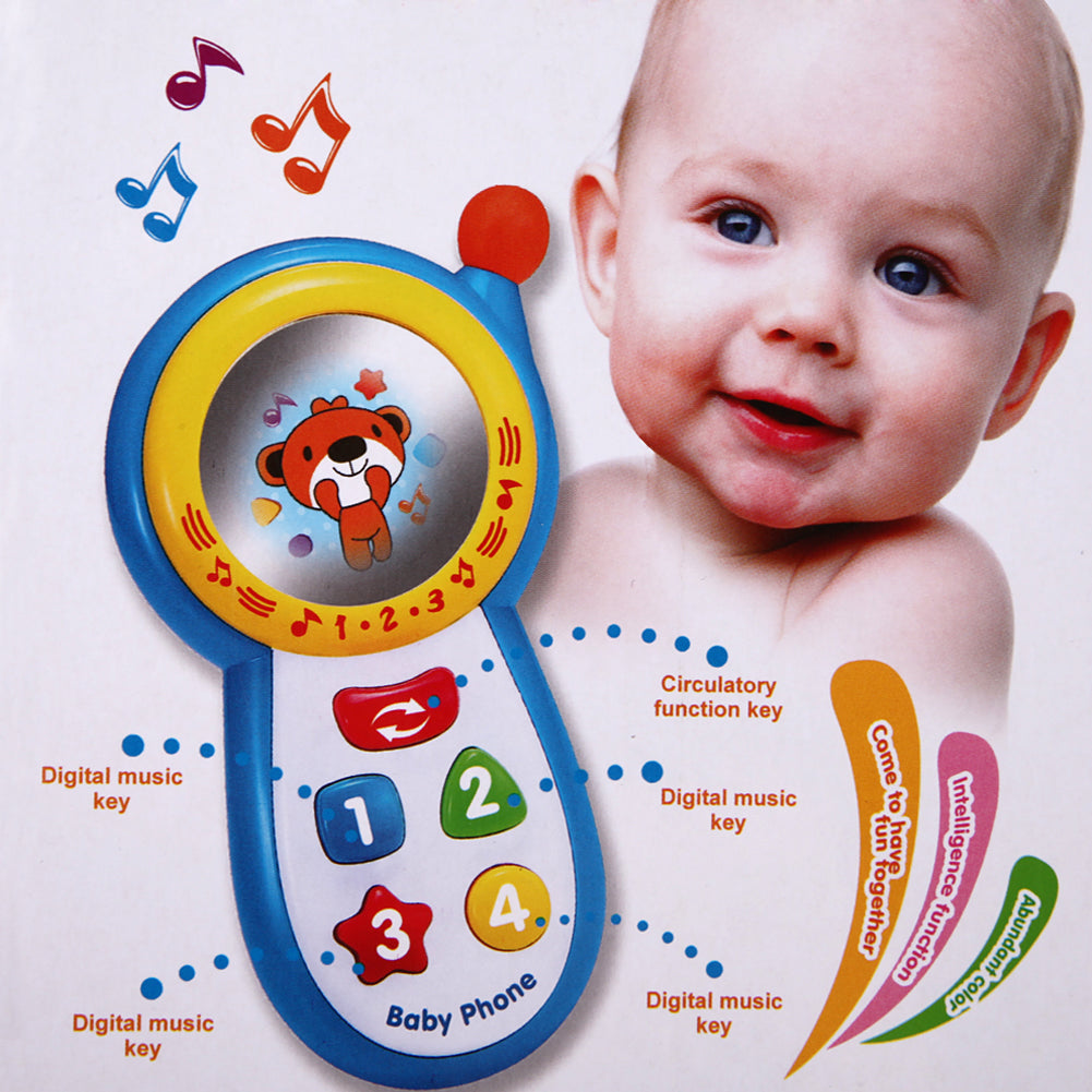 Baby Musical Phone Toys Kids Learning Study Musical Sound Cell Phone Toys for Children Newbrons Baby Children's Phone Toy
