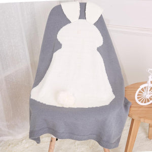 Baby blankets newborn 2017 Rabbit Knitting Blanket Bedding Quilt For Bed Sofa Wool blanket newborn photography props #033