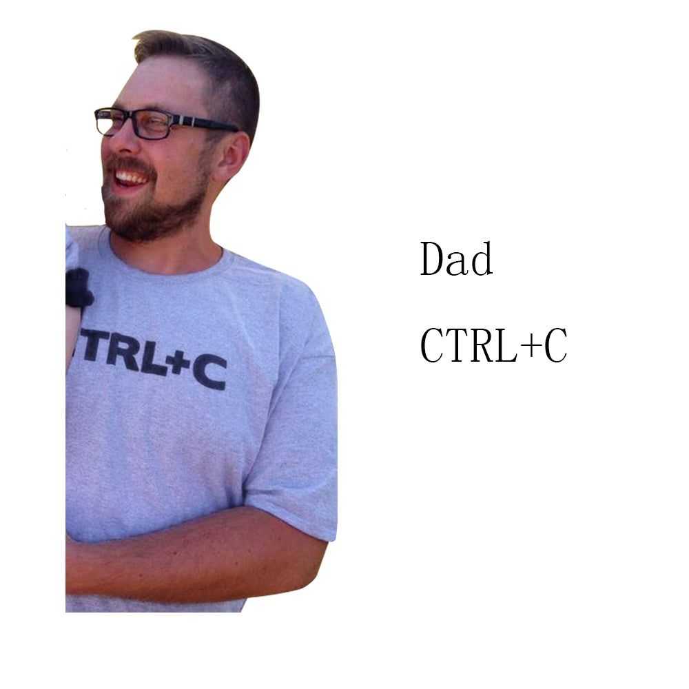 "Babyinstar Father & Me Matching Clothe Cute Print "" Ctrl C + Ctrl V "" Pattern T-shirt Family Wear 2017 Summer Family Look"