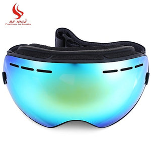 Be Nice Double Lens UV400 Anti-Fog Big Spherical Skiing Glasses Winter Sport Protective Snowboard Skiing Eyewear Goggles Glasses