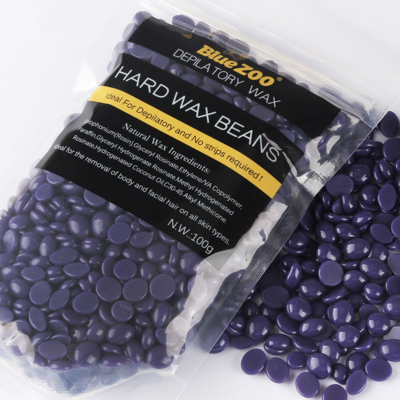 Best Deal New BlueZoo Lavender Flavor Hot Film Hard Wax Pellet Waxing Bikini Hair Removal Beans 1PCS