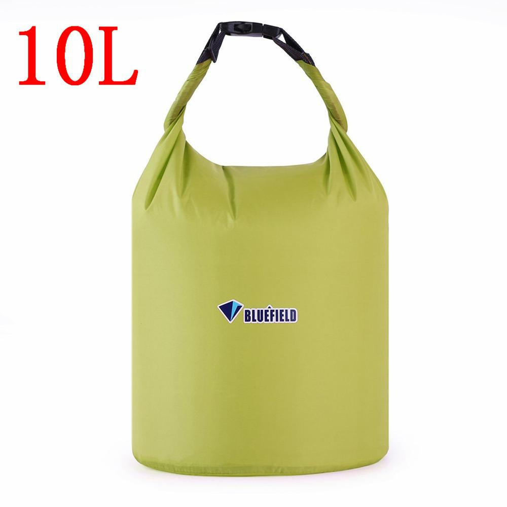 Bluefield 10L/20L Outdoor Swimming Waterproof Water Bag Camping Snorkeling Rafting Storage Dry Bag with Adjustable Strap Hook