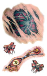 Body Decoration Scary Spidermen 3D Waterproof Temporary Tattoos Stickers #r104