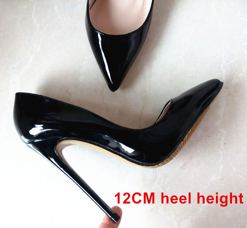 Brand Shoes Woman High Heels Pumps Red High Heels 12CM Women Shoes High Heels Wedding Shoes Pumps Black Nude Shoes Heels B-0043