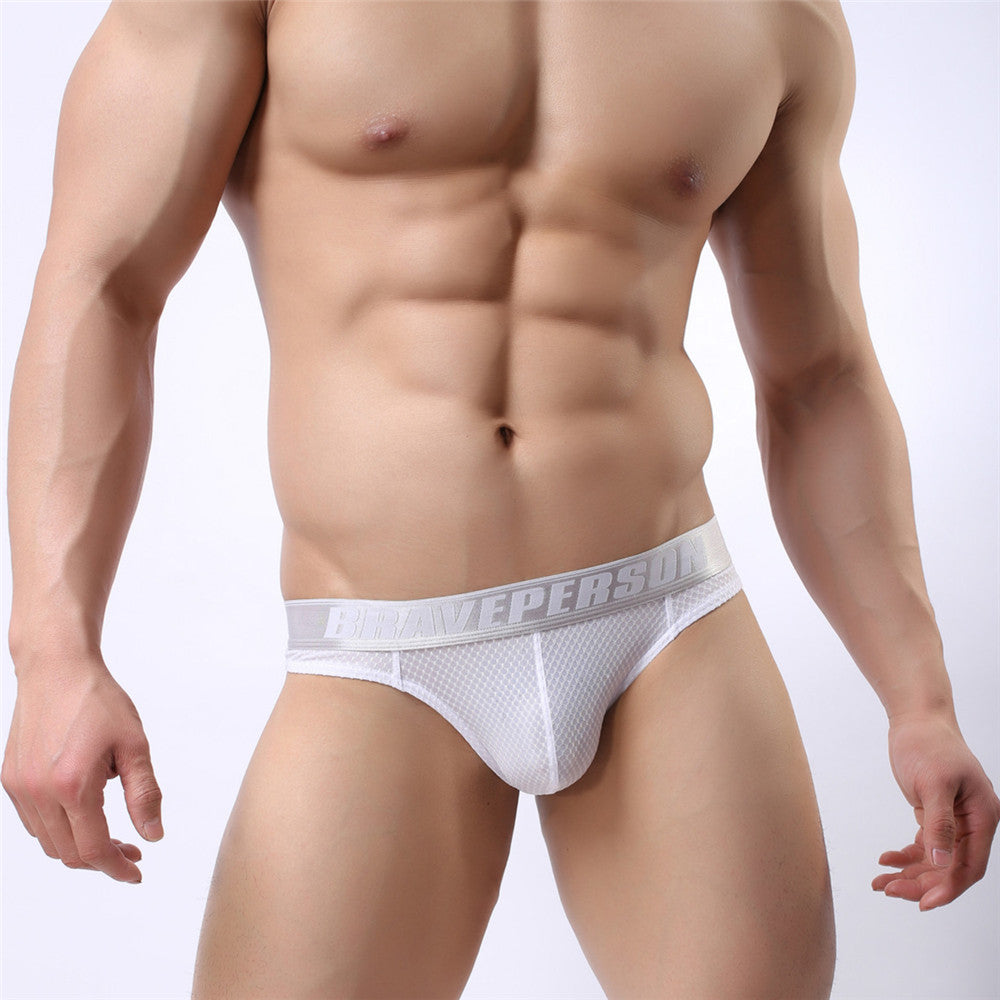 Brave Person Brand Men's Sexy Briefs Underwear Men G-string Thong Tanga Exotic Jacquard Panties Underwear Jockstrap B1153