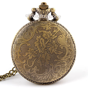 Bronze Fire Fighter Pocket Watch Necklace Pendant Chain Xmas Gift P106 Free shipping Christmas gifts