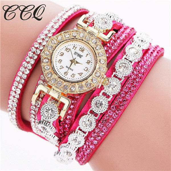 CCQ Fashion Women Watches Watched Relogio Feminino Luxury Women Full Crystal Wrist Watch Quartz Watch Relojes Mujer Gift C46