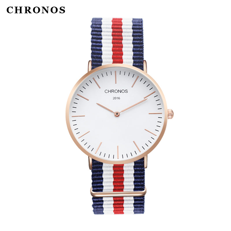 CHRONOS 2016 Mens Watches Top Brand Luxury Casual Quartz Rose Gold Silver Clock Relogio Masculino Horloges Vrouwen Ladies Watch
