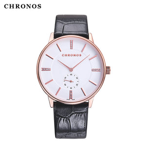 CHRONOS Relojes Hombre 2017 Watches Men Women Waterproof Casual Quartz Watches Fashion Lover's Clock Relojes Mujer Montre Femme