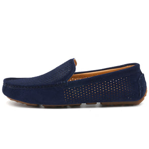 COSIDRAM 2017 Summer Loafers Men Shoes Casual Genuine Leather Flats Shoes Soft Male Moccasins Breathable Gommino Driving RMC-216