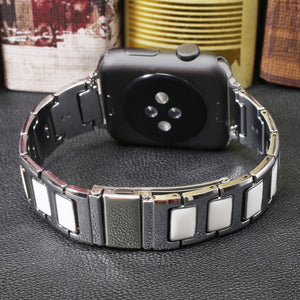 CRESTED Stainless Steel Watch band Strap for apple watch 42 mm 38 mm link bracelet Replacement Watchband for iwatch serise 1 2 3